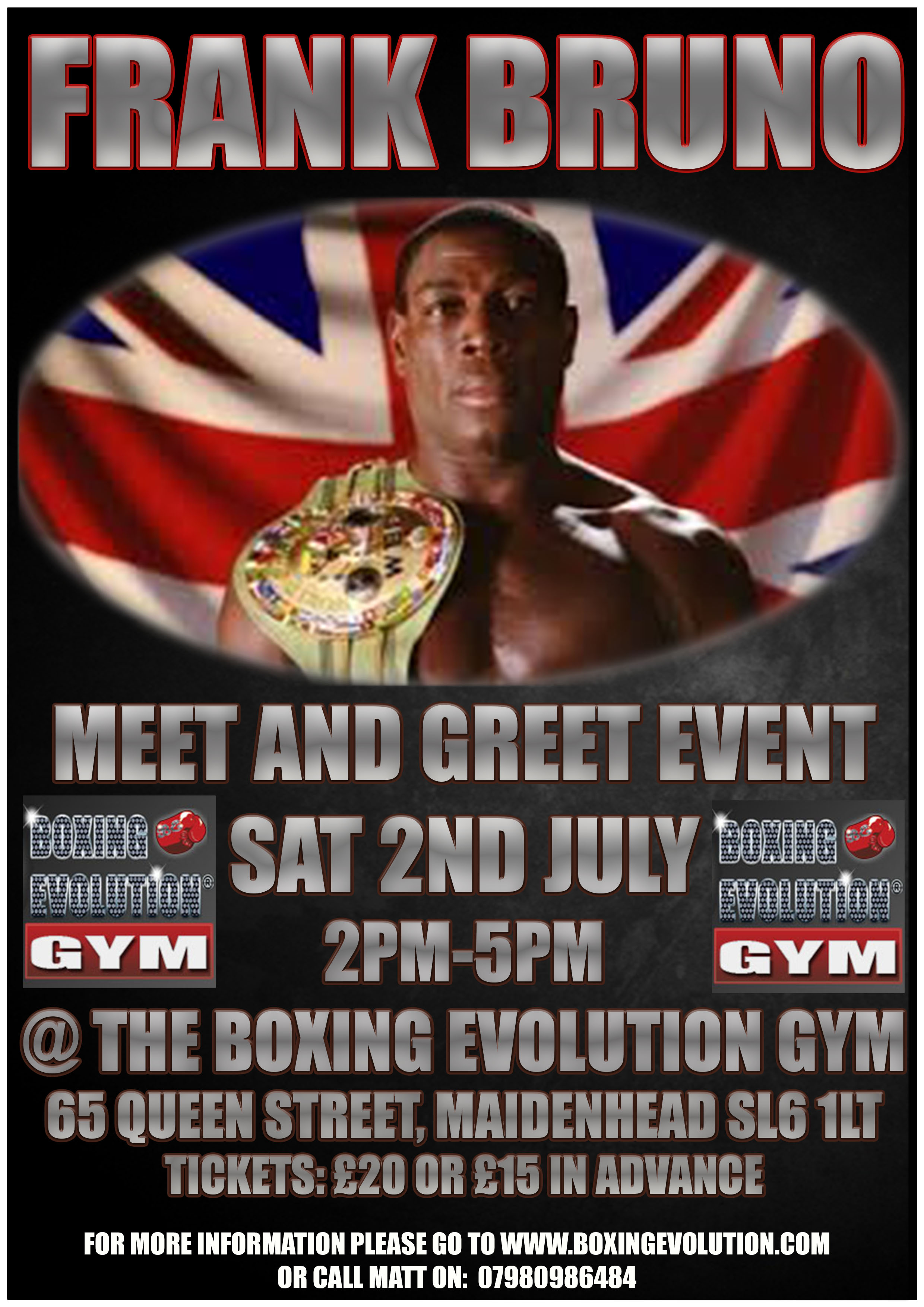 Frank Bruno Meet And Greet Event At The Boxing Evolution Gym