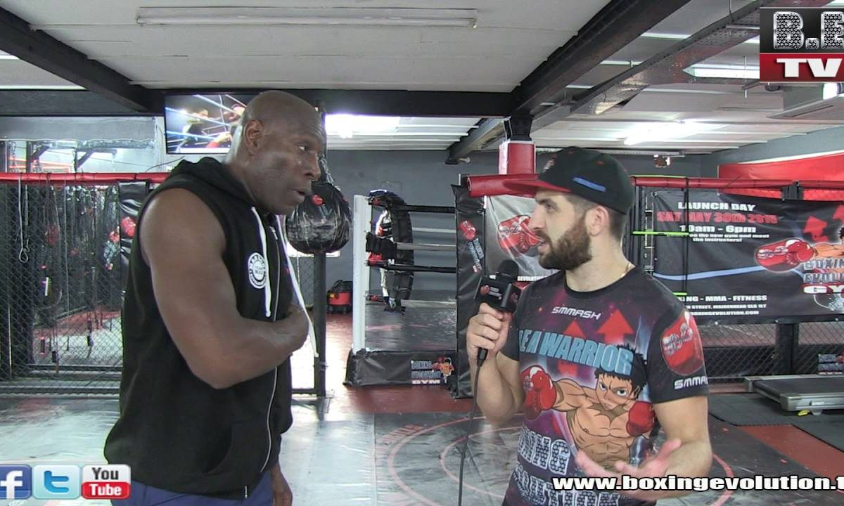 Flave interviews Frank Bruno at the Boxing Evolution gym