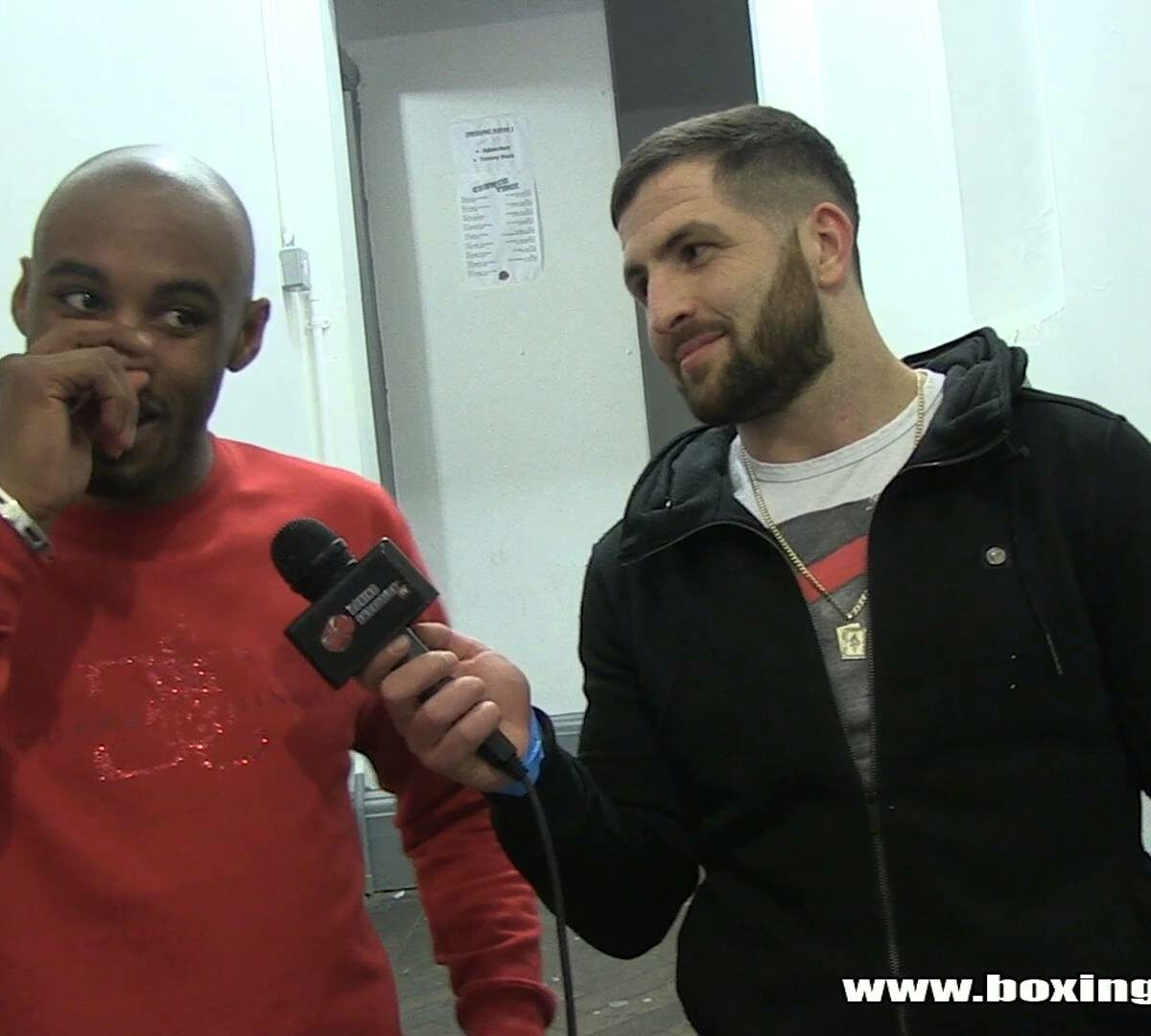 Flave interviews Hotshot Sinclair after his pro debut on Goodwin promotions