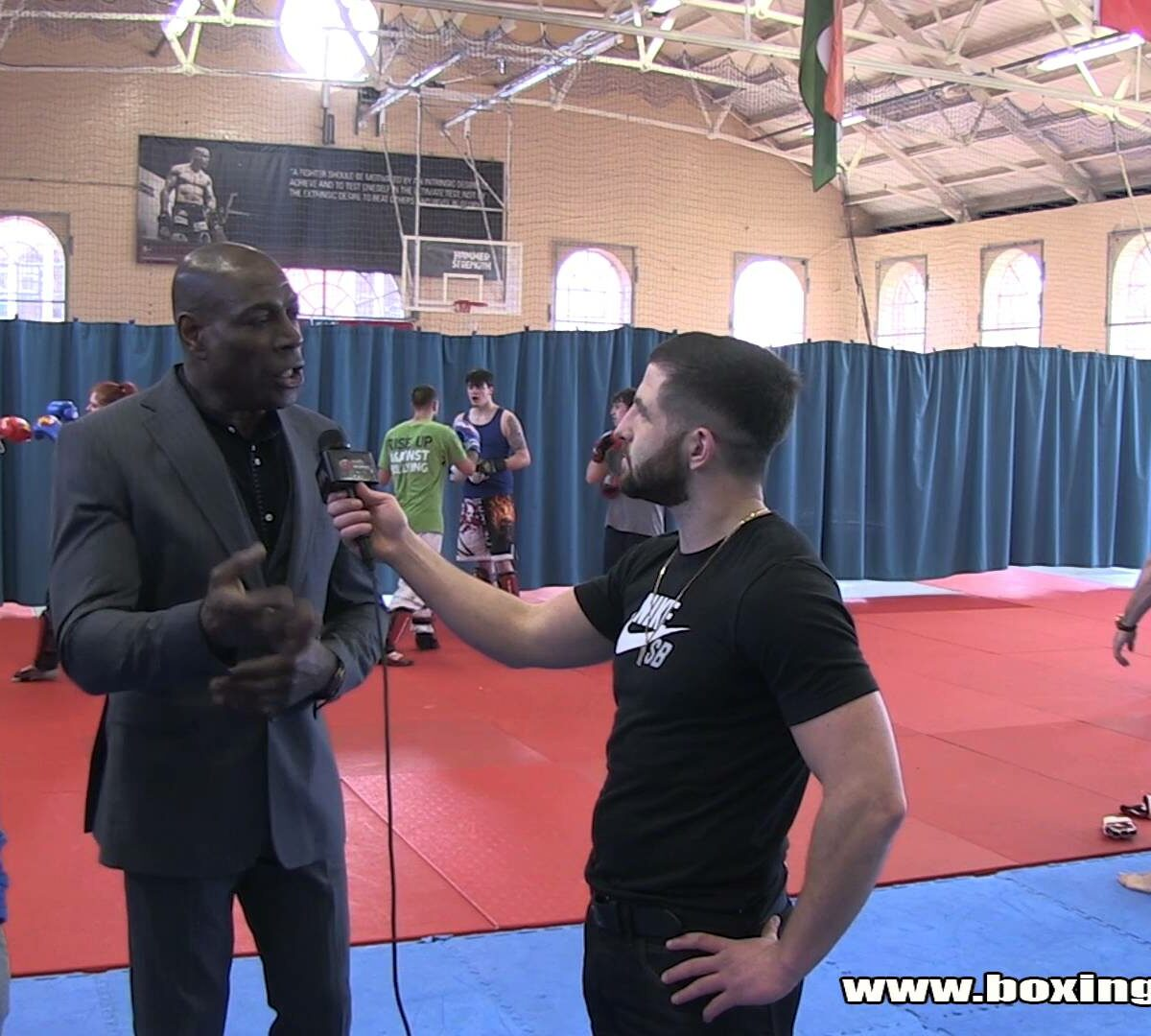 Flave interviews Frank Bruno at the Academy of Hard Knocks