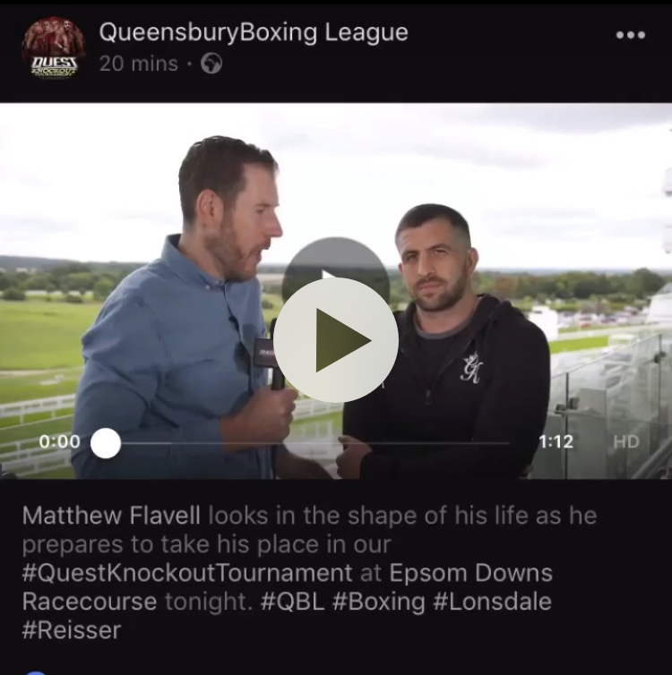 Matt Flavell pre fight interview
